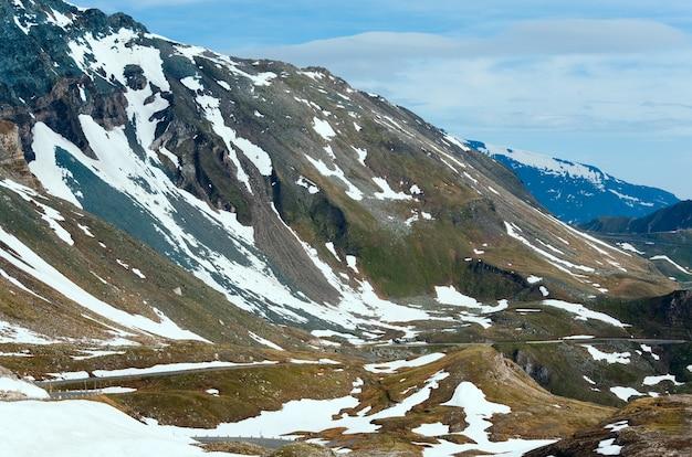 夏(6月)アルプス山(グロースグロックナーハイアルパインロードからの眺め)