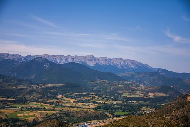 Summer landscape in la cerdanya, pyrenees, spain.