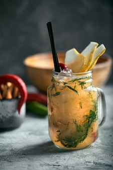 Summer lemonade pear with pepper
