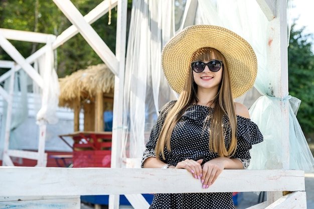 Summer lifestyle, portrait of pretty woman, outdoor