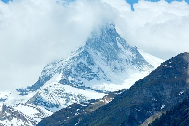 Summer matterhorn mountain view (alps, switzerland, zermatt)