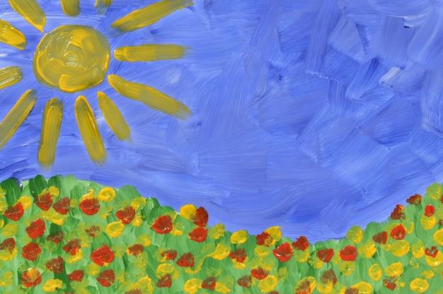 여름 초원 그림
