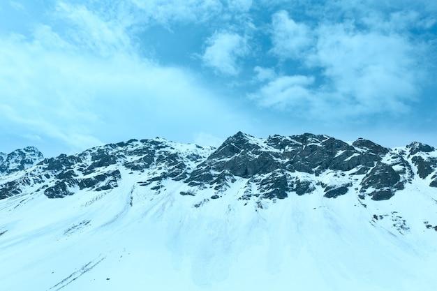 Летний горный пейзаж (перевал флюэла, швейцария)