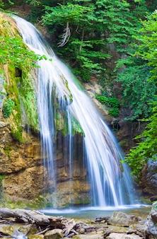 Summer mountain waterfall (crimea, ukraine)