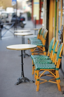 Summer outdoor cafe in paris, france