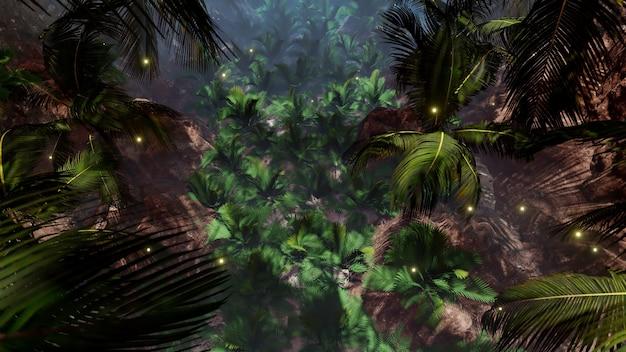 Летняя пальма фон для обоев на природе и в рекламе