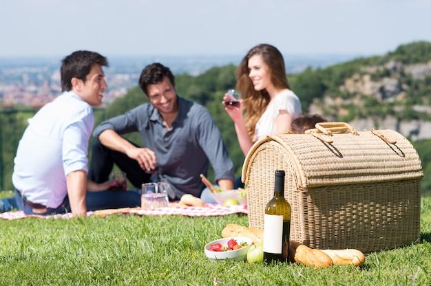 友達と夏のピクニック
