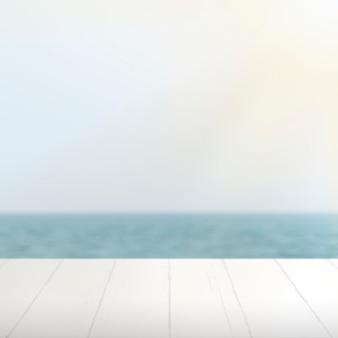 夏の製品の背景、青い海の背景