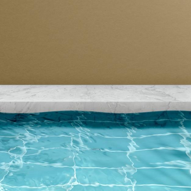 여름 제품 배경, 수영장