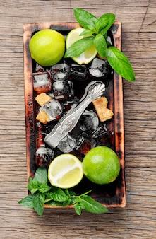 Summer refreshing cocktail mojito