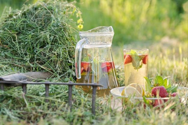 Summer refreshing natural homemade drinks