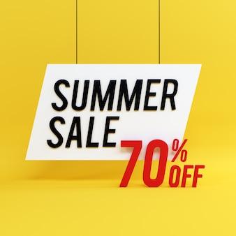 여름 판매 배경 3d 스타일