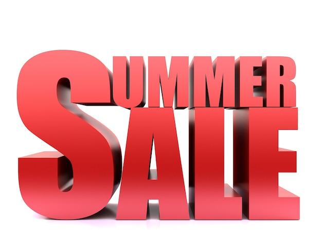 Summer sale word ,3d render