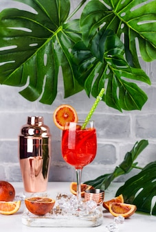 Summer sangria cocktail