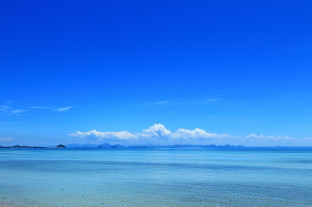 Summer seascape with blue sky
