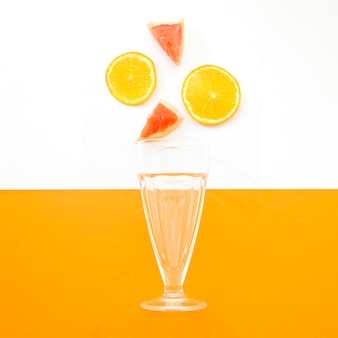 Summer smoothie with oranges