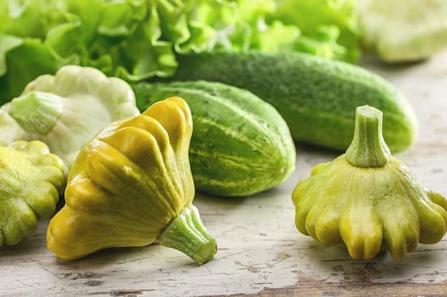 Летний натюрморт с овощами.