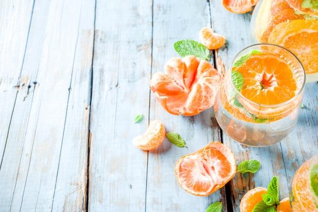 Summer tangerine lemonade or mojito