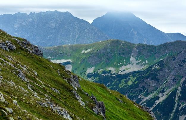 Summer tatra mountain, poland, view to swinica mount