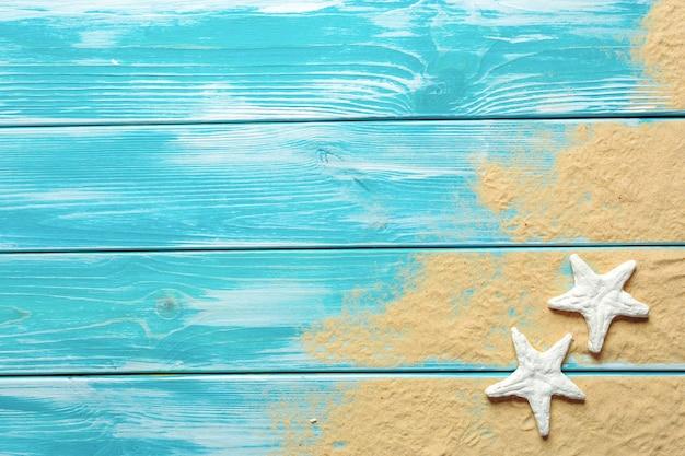 바다 조개와 여름 시간 개념