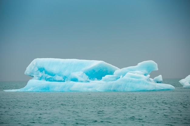 Summer time , icebergs in jokulsarlon glacier lagoon, iceland