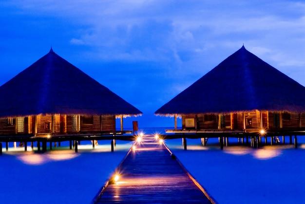 Summer time, nice sea, house at maldives beach, holiday and vacation, nice beach
