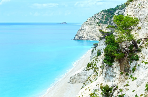 Egremni 해변 lefkada, 그리스의 여름 평면도