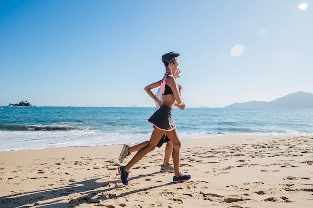 Summer training on the beach