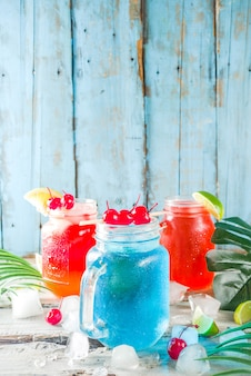 Summer tropical cocktails