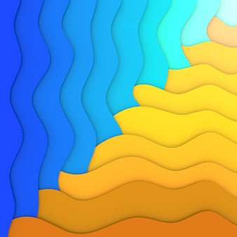 Summer vacation abstract background.