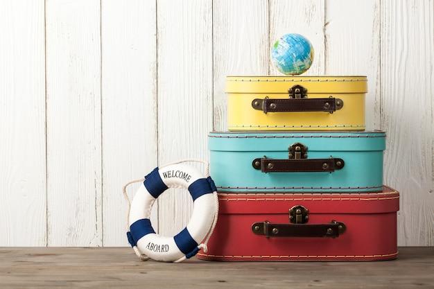 여름 휴가 및 여행 배경