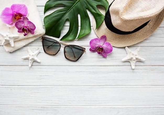 Summer vacation flat lay