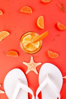 Летние каникулы апельсиновый фруктовый коктейль