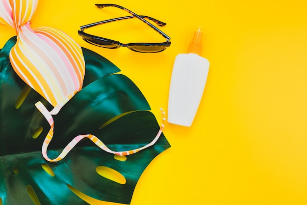 Summer vacations creative flat lay concept