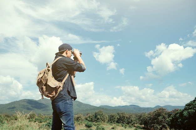 Summer vacations and lifestyle hiking concept