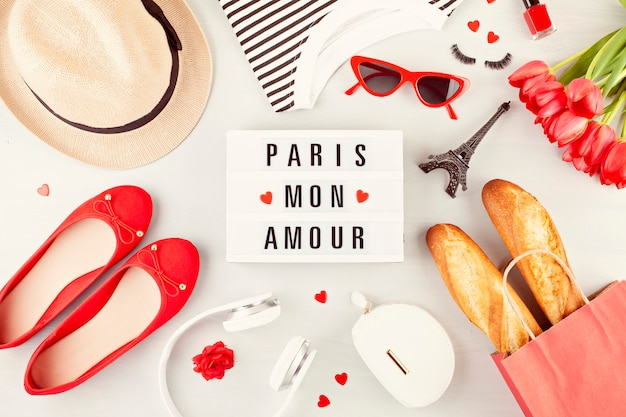 Summer vacations or weekend in paris concept