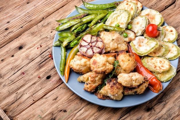 Summer vegetables grill