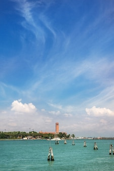 Summer venetian seaview