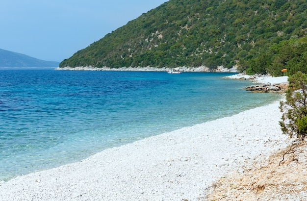 Antisamos 해변 그리스, kefalonia의 여름보기입니다.