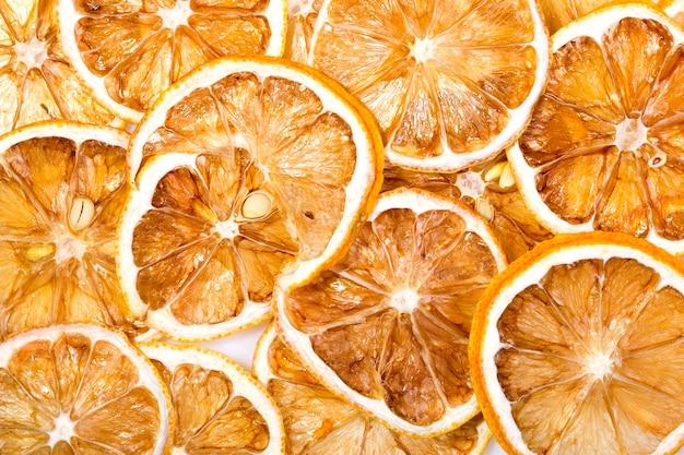 天日干し(乾燥レモンのクローズアップ