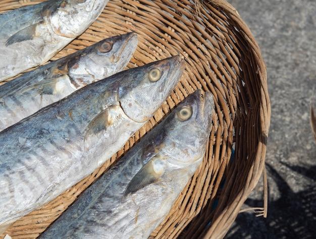 Sun-dried eagle fish for use as seafood.