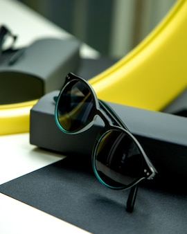 Sun glasses on the table