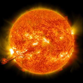 Sun. global warming. elements of this image furnished by nasa