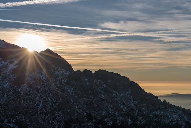 Sun in the mountain
