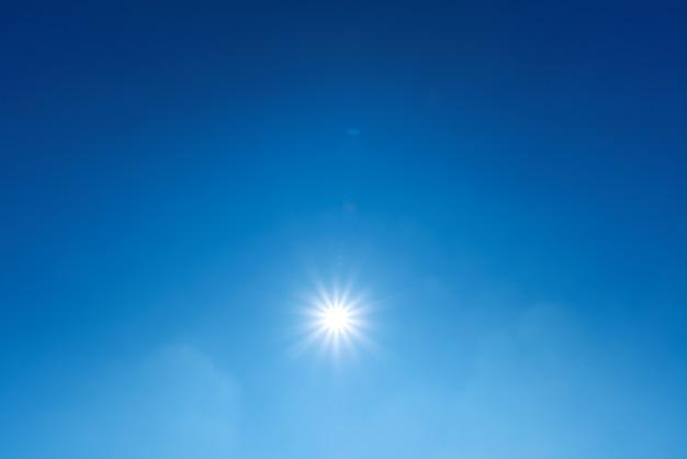 青い空の太陽