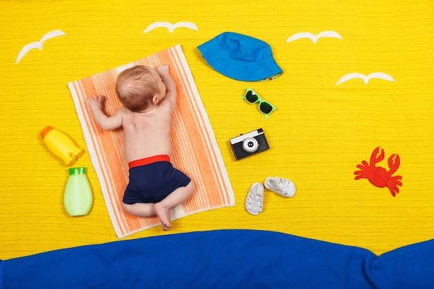 아기의 건강한 피부를위한 자외선 차단 로션