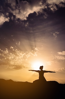 Sun, sky, shadows and yoga