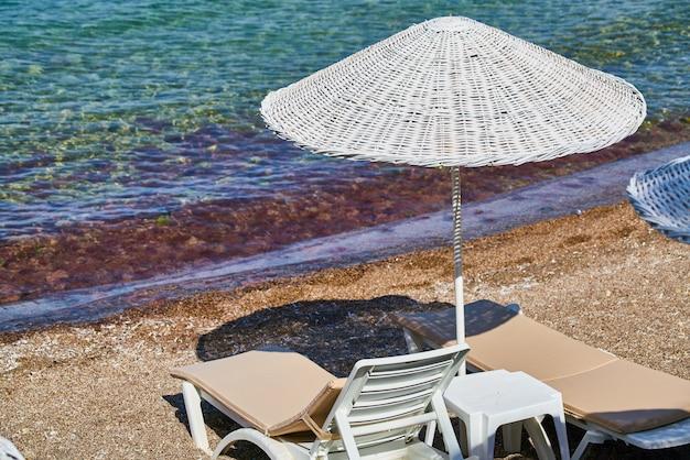 Sun umbrella and beach