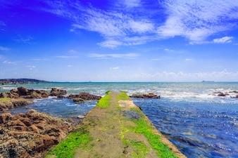 Sun vacation sky ocean panorama outdoor