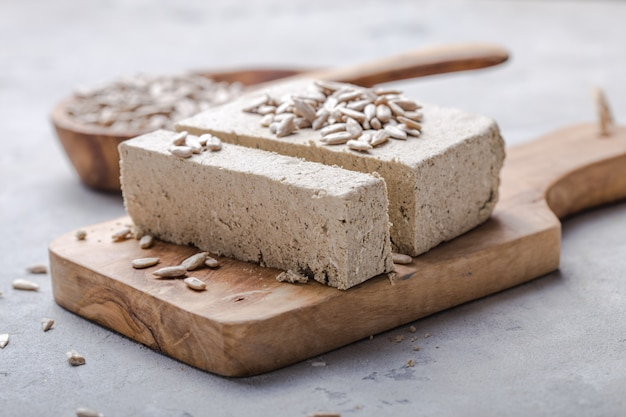 Sunflower halva with seeds